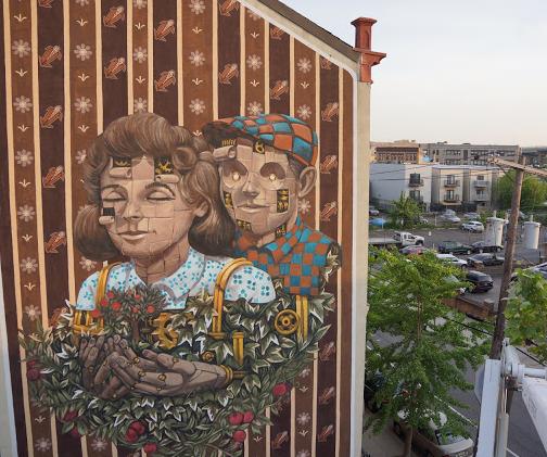 Художник – Pixel Pancho / Стена – Джерси-Сити, США