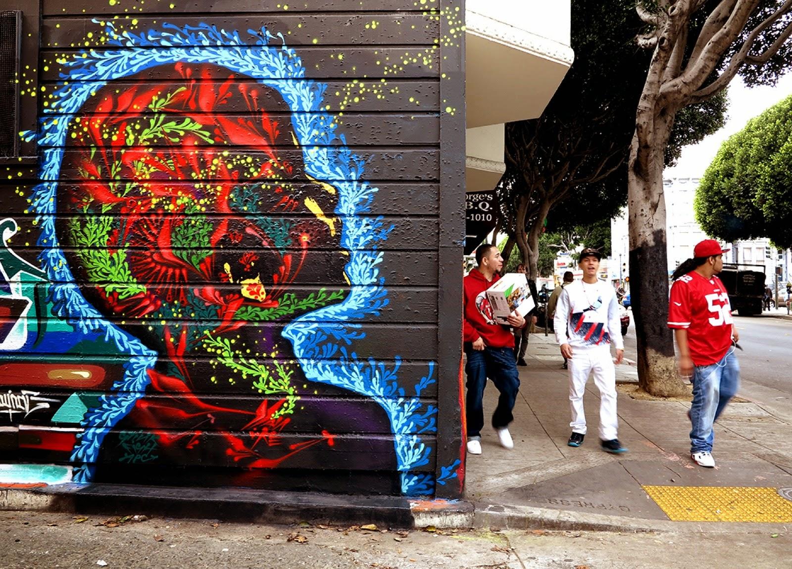 Художник – Stinkfish / Стена – Сан-Франциско, США
