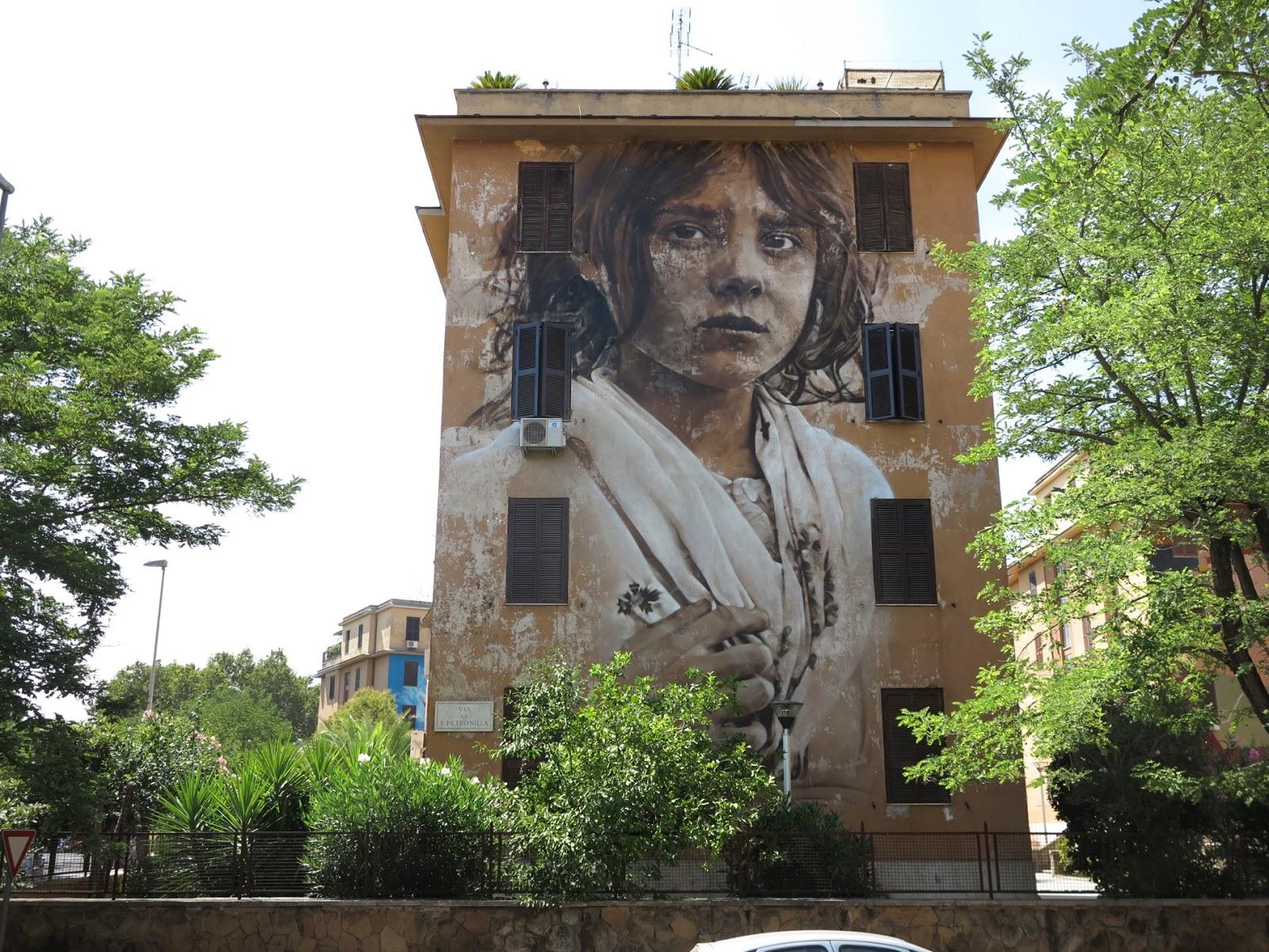 Художник - Guido Van Helten / Стена – Рим, Италия