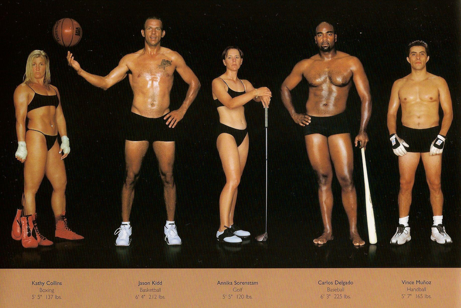 Howard Schatz / слева направо: бокс, баскетбол, гольф, бейсбол, гандбол.