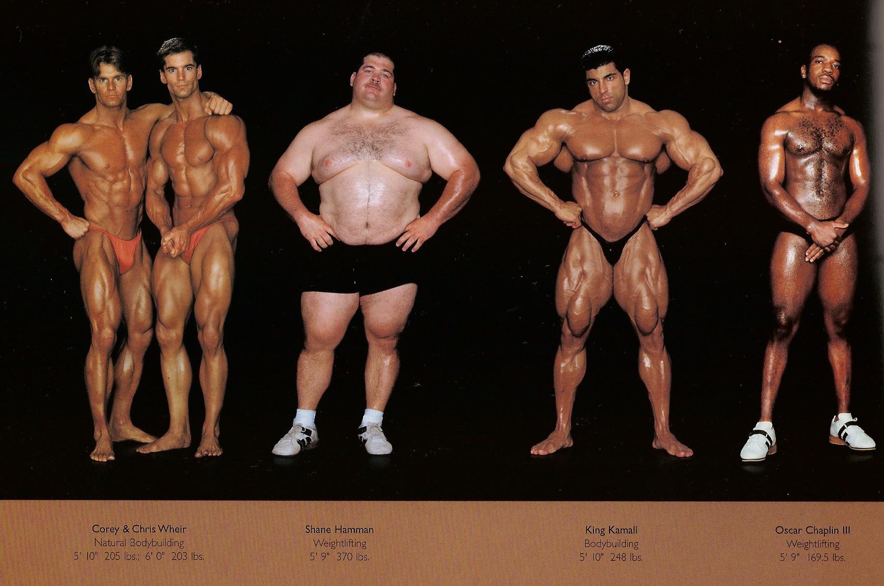 Howard Schatz / слева направо: бодибилдинг, вейтлифтинг, бодибилдинг, вейтлифинг.