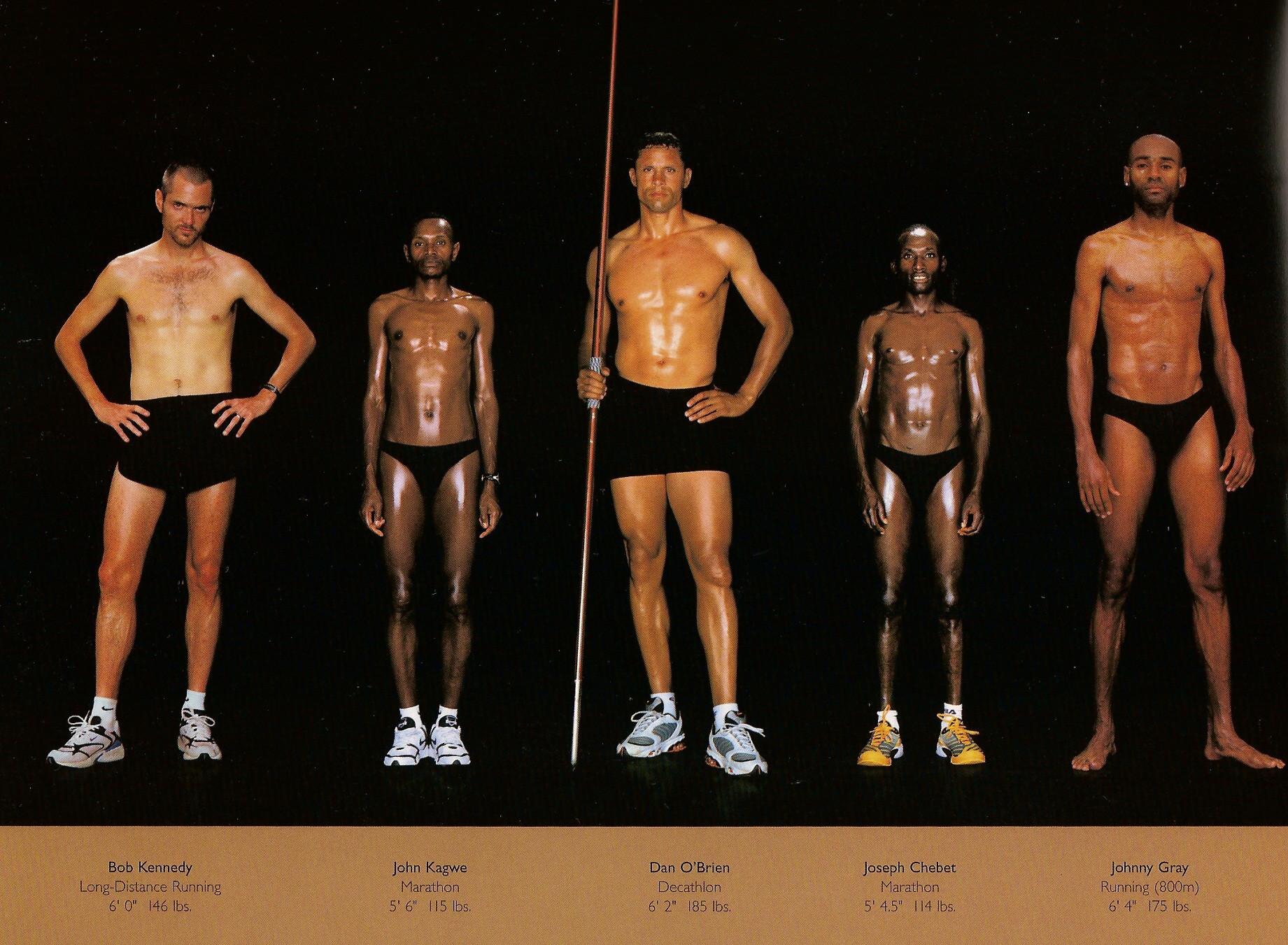 Howard Schatz / слева направо: бег на большие дистанции, марафоны, декатлон, марафоны, бег на 800 метров.