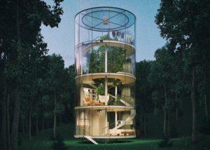 Дом-дерево — экологичное строительство в чистом виде